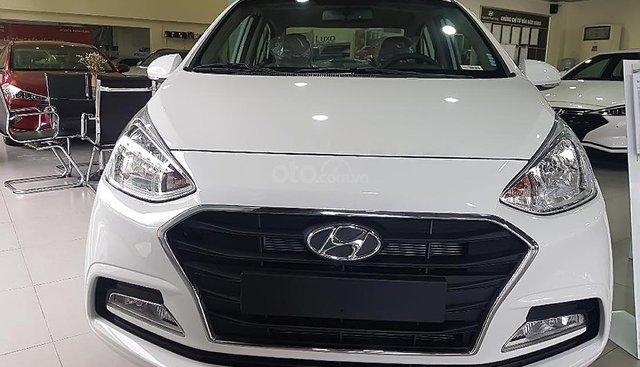 Bán Hyundai Grand i10 1.2 MT sản xuất 2019, màu trắng, giá chỉ 383 triệu