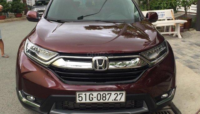 Bán Honda CR-V 1.5G 2018 màu đỏ mận xe đẹp không lỗi đi đúng 11.000km, cam kết chất lượng bao kiểm tra hãng