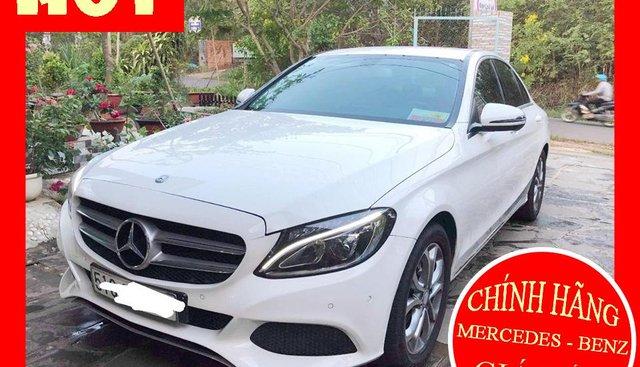 Bán xe Mercedes C200 trắng/kem đời 2017 cũ chính hãng. Trả trước 400 triệu nhận xe ngay