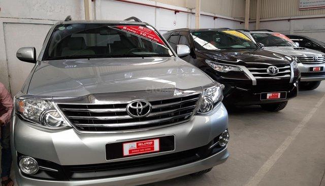 Bán xe Toyota Fortuner V đời 2015, màu bạc, giá thương lượng