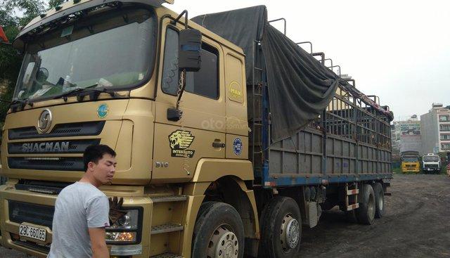Bán xe tải SHACMAN 4 chân, 18 tấn đời 2015, màu vàng, nhập khẩu TQ