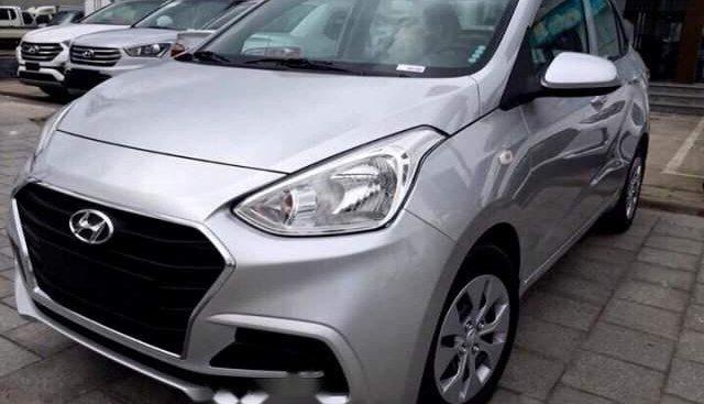 Bán ô tô Hyundai Grand i10 đời 2019, màu bạc, giá 337tr