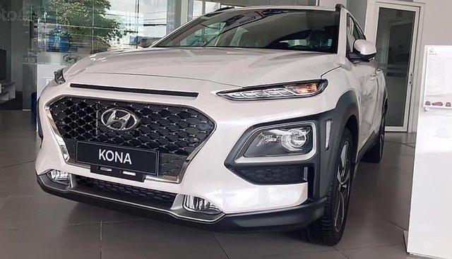 Bán Hyundai Kona 1.6 Turbo 2019, màu trắng, giá chỉ 750 triệu