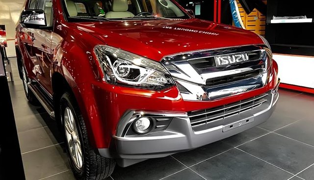Bán xe Isuzu mu-X 1.9 4X2 AT sản xuất năm 2019, màu đỏ, nhập khẩu