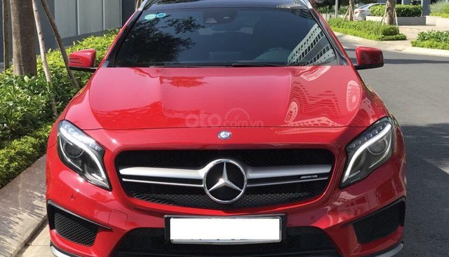 Bán Mercedes GLA 45 AMG 4 Matic màu đỏ, sản xuất cuối 2015, biển Hà Nội