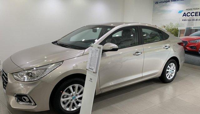 Bán Hyundai Accent AT TC vàng be giao ngay, hỗ trợ đăng ký Grab, tặng bộ PK cao cấp, LH 0903175312