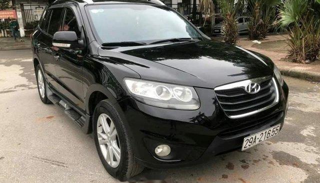 Bán Hyundai Santa Fe sản xuất 2011, màu đen, nhập khẩu