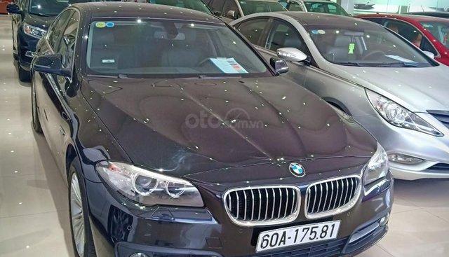 Cần bán BMW 520i đời 2014 2.0 AT xe nhập khẩu nguyên chiếc tại Đức, odo: 53.000 km, màu đen, xe đẹp