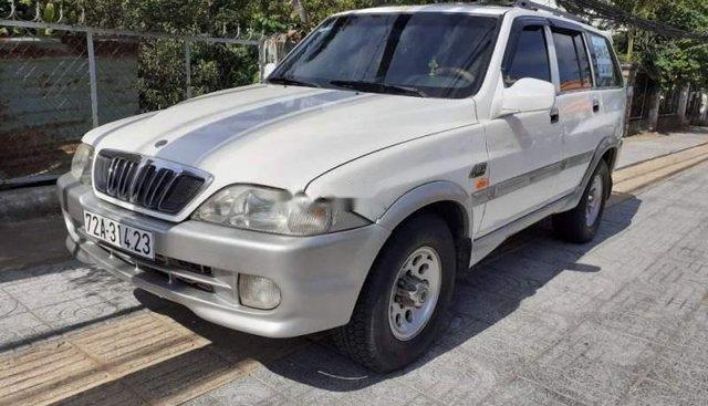 Bán Ssangyong Musso đời 2001, màu trắng, nhập khẩu nguyên chiếc, 120 triệu