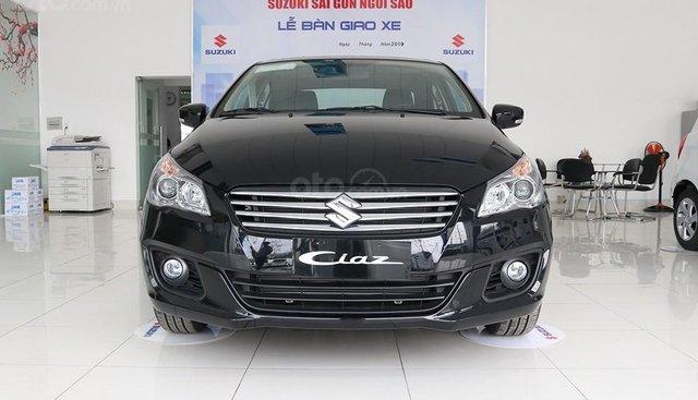 Bán ô tô Suzuki Ciaz GLX sản xuất 2019, màu đen, xe nhập, giá chỉ 499 triệu