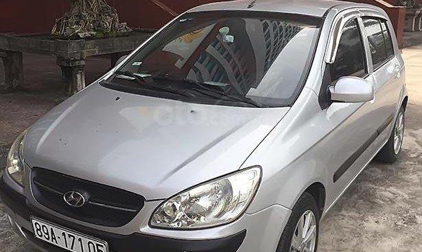 Bán xe Hyundai Getz 1.1 MT sản xuất năm 2008, màu bạc, nhập khẩu nguyên chiếc chính chủ