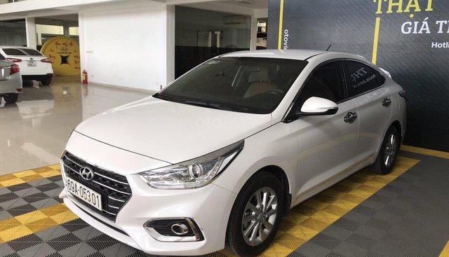 Bán Hyundai Accent 1.4AT màu trắng, số tự độn, g sản xuất 2018, bản tiêu chuẩn đi 16000km