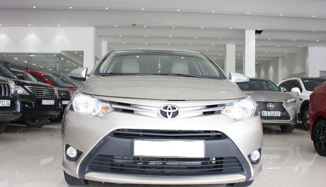 Bán xe Toyota Vios 1.5AT date 2017, màu vàng, giá 505tr