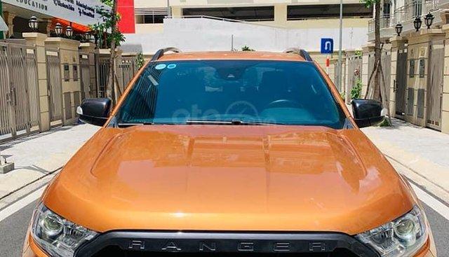 Cần bán Ford Ranger Wildtrak 2.0L BiTurBo đời 2018, màu cam, nhập khẩu nguyên chiếc, giá chỉ 870 triệu