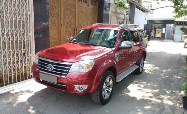 Bán Ford Everest màu đỏ, 2010 Đk 2011 tự động máy dầu rất mới