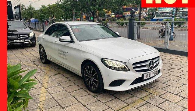 Bán xe Mercedes C200 Facelift màu trắng 2019, chính hãng giá tốt, trả trước 450 triệu nhận xe ngay