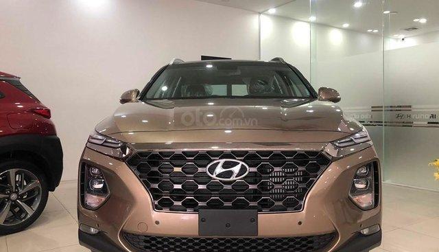 Bán Hyundai Santafe 2019 máy dầu, vàng cát, tặng 10triệu - nhiều ưu đãi - LH: 0964898932