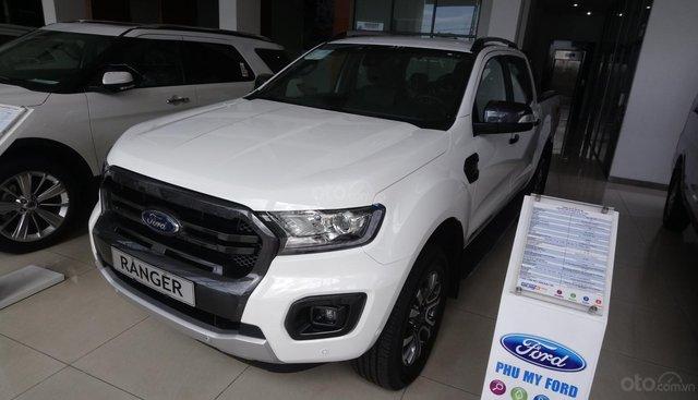 Cần bán Ford Ranger Wildtrak đời 2019, màu trắng, nhập khẩu, giá tốt