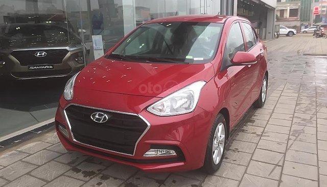Cần bán xe Hyundai Grand i10 1.2 MT sản xuất năm 2019, màu đỏ, giá chỉ 382 triệu