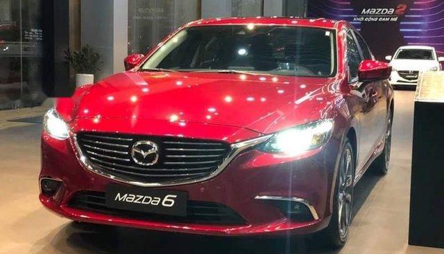 Bán ô tô Mazda 6 năm sản xuất 2019, màu đỏ, ưu đãi tiền mặt lên đến 30tr