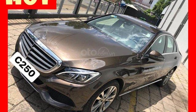 Bán xe Mercedes C250 nâu/đen sx 2017 chính hãng giá tốt. Hỗ trợ trả góp ưu đãi