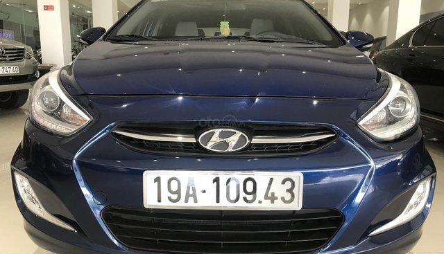 Cần bán gấp Hyundai Accent năm 2015, màu xanh lam, nhập khẩu