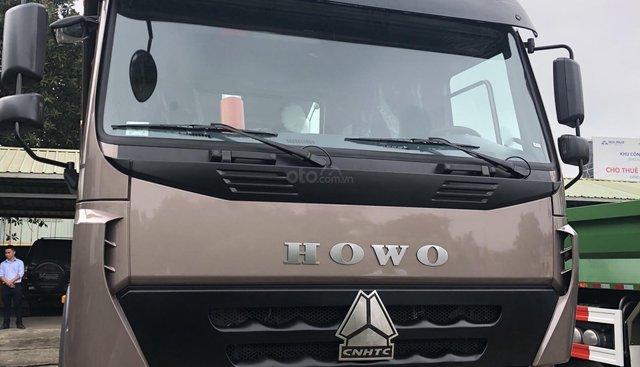 Bán xe Howo 4 chân màu nâu, xe ben năm 2019 tại Đà Nẵng, Bình Định và miền Trung Tây Nguyên