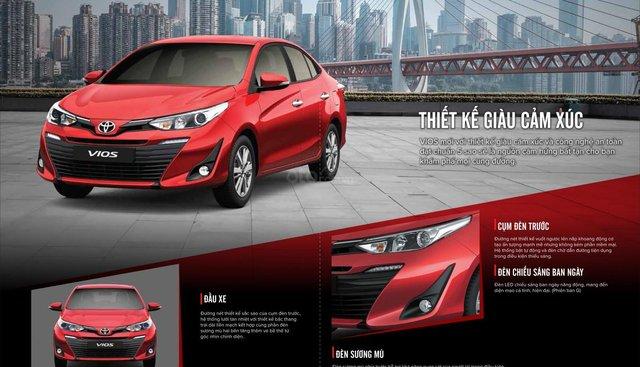 Bán ô tô Toyota Vios đời 2019, màu đỏ, giá tốt