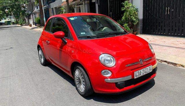 Fiat 500 màu đỏ nội thất đỏ city car siêu tiết kiệm