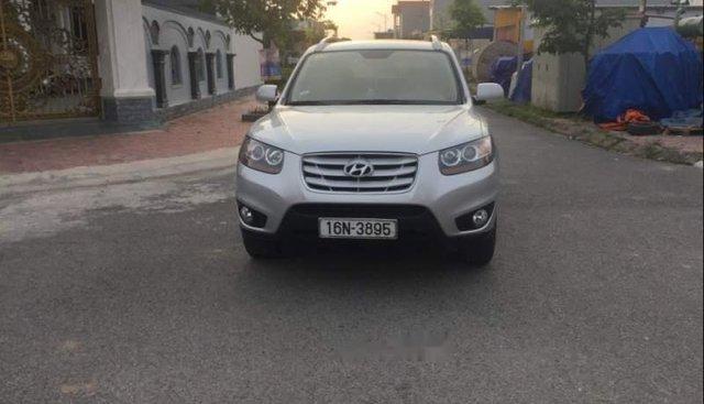 Bán Hyundai Santa Fe sản xuất năm 2010, màu bạc, xe nhập