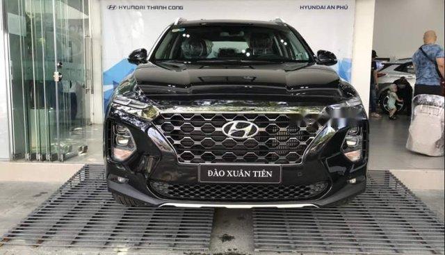 Bán xe Hyundai Santa Fe đời 2019, màu đen