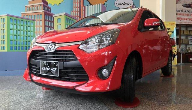 Bán Toyota Wigo 2019 mới 100%, thanh toán 130tr, góp 6tr/tháng nhận xe ngay, xe nhập Indonesia