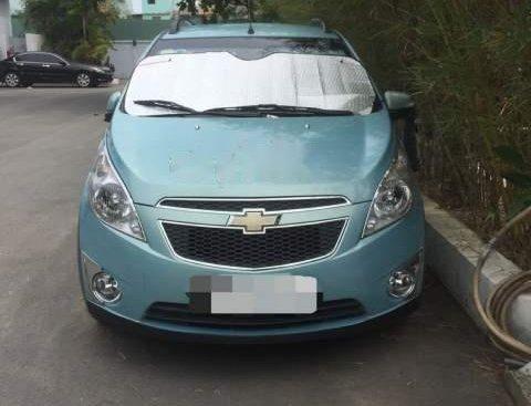 Bán Chevrolet Spark 1.2 LT đời 2012, màu xanh lam, xe nhập