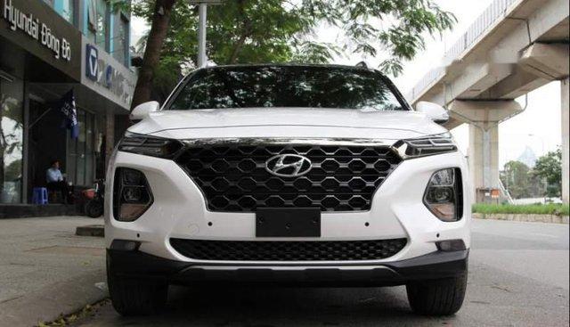 Cần bán xe Hyundai Santa Fe sản xuất 2019, màu trắng