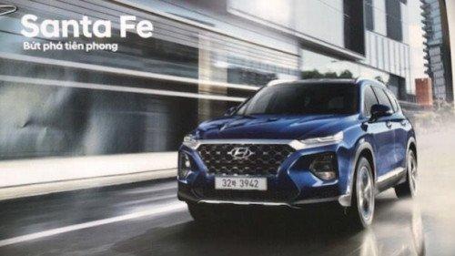 Bán Hyundai Santa Fe AT sản xuất năm 2019, màu xanh lam