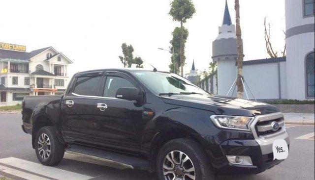 Cần bán lại xe Ford Ranger XLS 4x2 AT sản xuất năm 2017, màu đen, máy êm ổn định