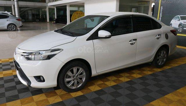 Cần bán Toyota Vios E 1.5MT năm sản xuất 2016, màu trắng, 446 triệu