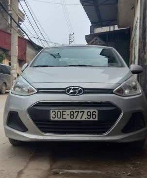 Cần bán xe Hyundai Grand i10 đời 2017, màu bạc, nhập khẩu, đăng ký 2017