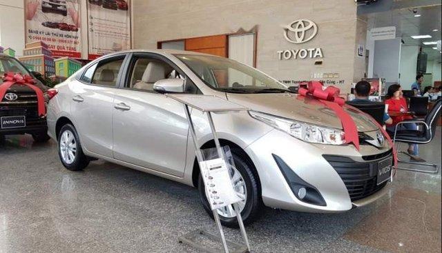 Bán xe Toyota Vios 1.5E CVT sản xuất 2019, chỉ với 6 triệu / tháng, đưa trước 145 triệu, giao ngay xe tận nhà