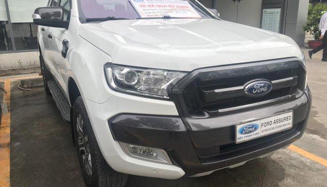 Bán xe Ford Ranger Wildtrak 3.2L AT, 2 cầu, đời 2016, màu trắng, nhập khẩu