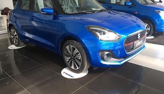 Bán xe Suzuki Swift GLX 1.2 AT sản xuất 2019, màu xanh lam, xe nhập