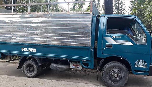 Bán xe Kia K3000S màu xanh, sx năm 2000, xe mui bạt thùng inox, máy móc gầm bệ chắc chắn