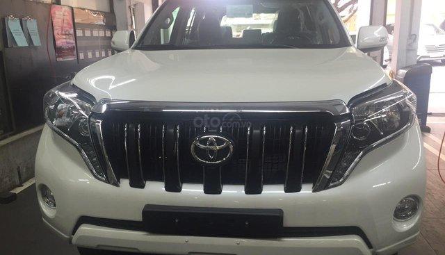 Toyota Prado 2.7 AT năm sản xuất 2019, màu trắng ngọc trai, xe nhập nhật - giao xe ngay