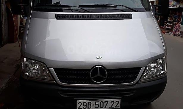Bán xe Mercedes Sprinter 16 chỗ đời 2008 màu bạc, xe chính chủ, chạy hợp đồng du lịch