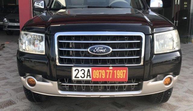 Bán ô tô Ford Everest năm sản xuất 2007 số sàn, máy dầu 1 cầu, màu đen
