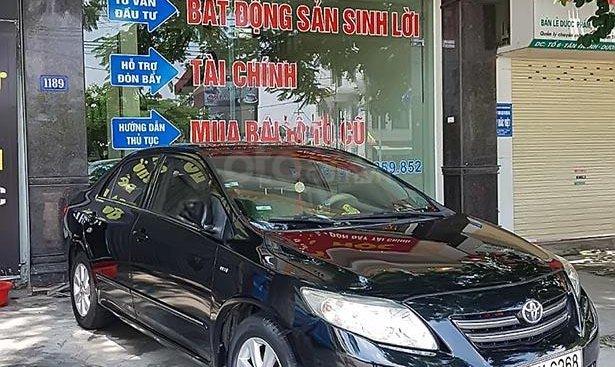 Bán gấp Toyota Corolla altis 1.8G MT đời 2009, màu đen, chính chủ