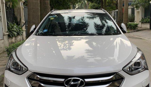 Bán xe Santafe sản xuất năm 2016, màu trắng