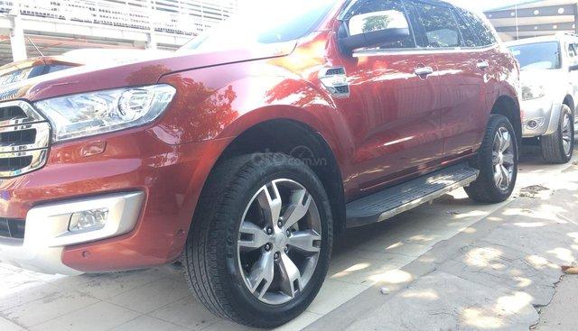 Cần bán Ford Everest Titanium đời 2017, màu đỏ, nhập khẩu nguyên chiếc