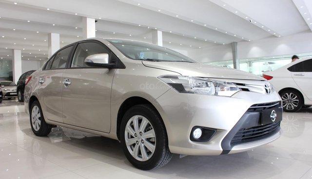 Bán ô tô Toyota Vios 2.0 E năm sản xuất 2018, màu vàng giá cạnh tranh