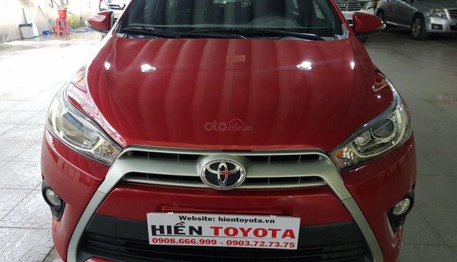 Cần bán Toyota Yaris 1.5G sản xuất năm 2015, màu đỏ, giá tốt
